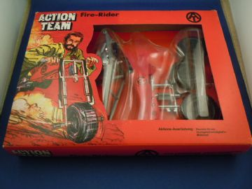 VINTAGE ACTION TEAM - Fire Rider - Drag Bike BOXED